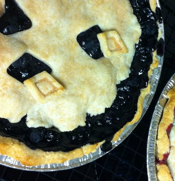 Blueberry Pie is a year round favorite.
