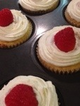 Raspberry-topped coconut flour cupcakes.jpg